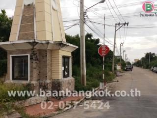01159, ขาย ที่ดินเปล่า ถมแล้ว ต้นโครงการ แปลงสวย   เนื้อที่ 65 ตร.ว. หมู่บ้าน เอกสิริน ถนนกาญจนา บางบัวทอง นนทบุรี