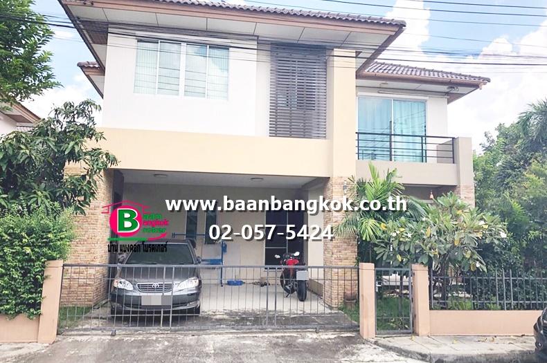 ขาย/ให้เช่า บ้านเดี่ยว 2 ชั้น หลังมุม เนื้อที่ 60.3 ตรว. โครงการ ฮาบิเทีย ถนน345 อ.เมือง จ.ปทุมธานี