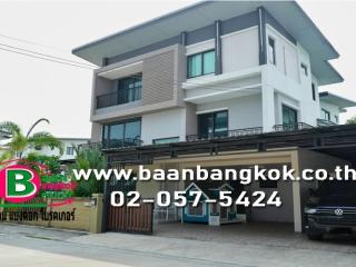 01742, ขาย บ้านเดี่ยว 3 ชั้น เนื้อที่ 78.5 ตรว. หมู่บ้าน โกลเด้น เพรสทีจ สุขาภิบาล 5 ถนน รามอินทรา สายไหม กรุงเทพฯ บ้านสวย พร้อมอยู่ เฟอร์เต็ม
