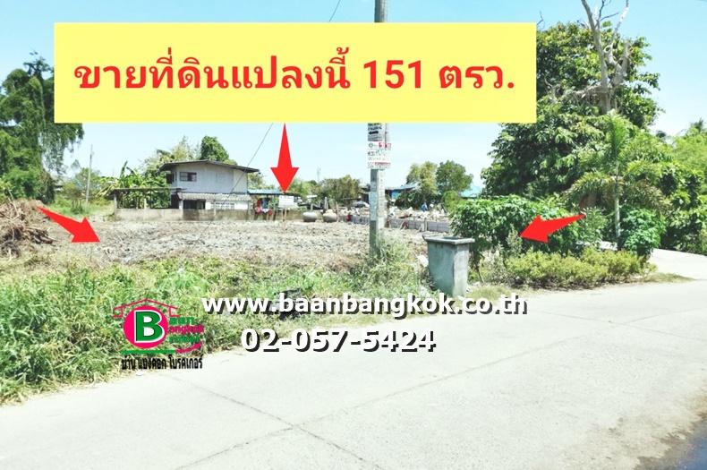 ขาย ที่ดิน+บ้าน เนื้อที่ 151 ตรว. ถมแล้ว ซอยเทศบาล 11/3 ตำบลบางรักใหญ่ อำเภอบางบัวทอง นนทบุรี