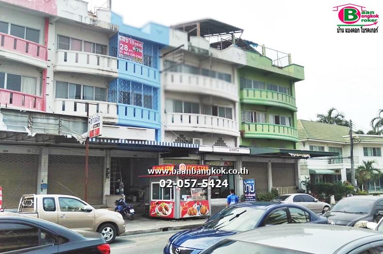 อาคารพาณิชย์ 3 ชั้น ติดถนนแหลมสะบัง-ชลบุรี (ถนนสัจจะคีรี) เนื้อที่ 28 ตรว. มี 3 ห้องนอน 2 ห้องน้ำ อ.เมือง จ.ชลบุรี
