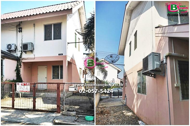 ขาย บ้านเเฝด 2 ชั้น เนื้อที่ 34.5 ตรว. มี 2 ห้องนอน 1 ห้องน้ำ โครงการเอื้ออาทร เฟส1 ถนนโรจนะ-วังน้อย อ.บางปะอิน จ.อยุธยา