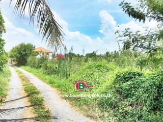 03371, ที่ดินเปล่า ที่ดินเปล่า ติดถนนโยธาธิการ นนทบุรี 2023 (ซอยอ้อมเกร็ด) เนื้อที่ 75 ตรว. ถนนราชพฤกษ์ ปากเกร็ด นนทบุรี