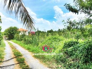 03373, ที่ดินเปล่า ติดถนนโยธาธิการ นนทบุรี 2023 (ซอยอ้อมเกร็ด) เนื้อที่ 157.8 ตรว. ถนนราชพฤกษ์ ปากเกร็ด นนทบุรี
