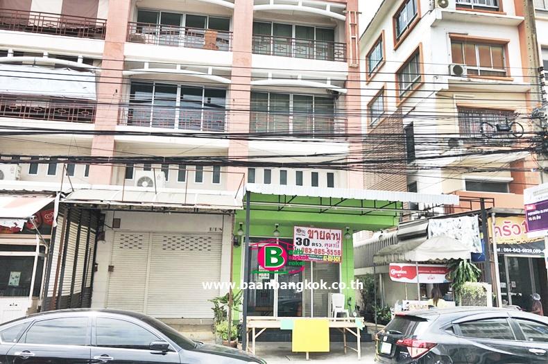 อาคารพาณิชย์ 4 ชั้น ซอยรามคำเเหง 164 หลังริม เนื้อที่ 30 ตรว. มี 3 ห้องนอน 4 ห้องน้ำ ถนนรามคำเเหง มีนบุรี