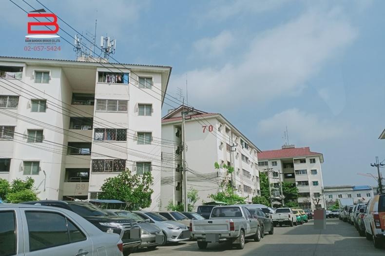 คอนโดมิเนียม ห้องริม โครงการ บ้านเอื้ออาทรนนทบุรี (วัดกู้ 2) สูง 5 ชั้น อยู่ชั้นที่ 4 เนื้อที่ 31.91 ตรม. มี 1 นอน 1 น้ำ ถนนติวานนท์-ปากเกร็ด อ.ปากเกร็ด จ.นนทบุรี