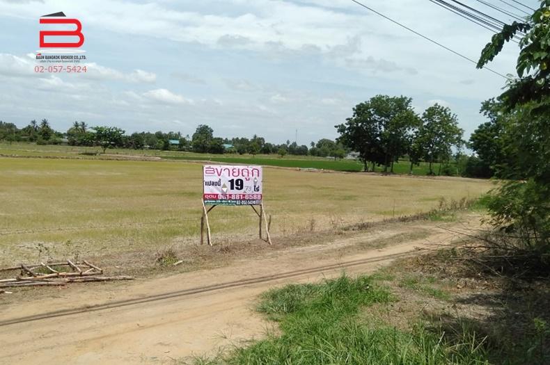 ที่ดินถมแล้ว ราคาไม่เเพง ริมถนนทางหลวงเเผ่นดินหมายเลข 340 เนื้อที่ 19-0-79.4 ไร่ อ.ศรีประจันต์ จ.สุพรรณบุรี
