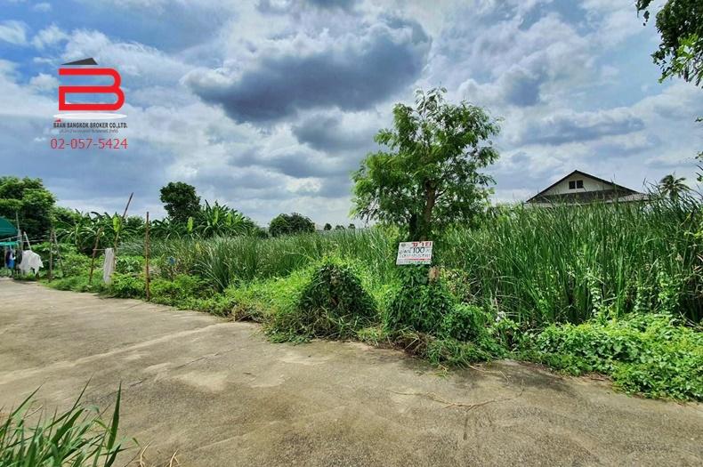 ที่ดินเปล่า ทางเข้าโครงการ เดอะซิตี้ ราชพฤกษ์-สวนผัก เนื้อที่ 100 ตรว. ถนนบางกรวย-จงถนอม อ.บางกรวย จ.นนทบุรี