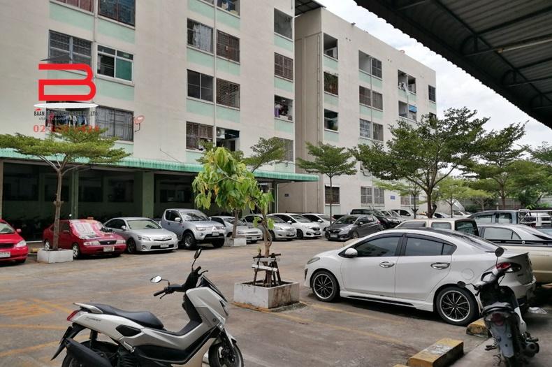 คอนโดมิเนียม โครงการ เคหะชุมชนออเงิน สูง 5 ชั้น อยู่ชั้นที่ 4 เนื้อที่ 30.11 ตรม. มี 1 นอน 1 น้ำ ถนนสุขาภิบาล 5 เขตสายไหม