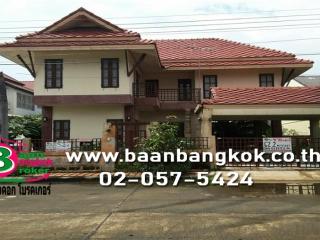 1261, ขาย บ้านเดี่ยว  2 ชั้น เนื้อที่ 62.2 ตรว. หมู่บ้าน รัตนวรรณ 1 (ลำลูกกา - คลอง 4)